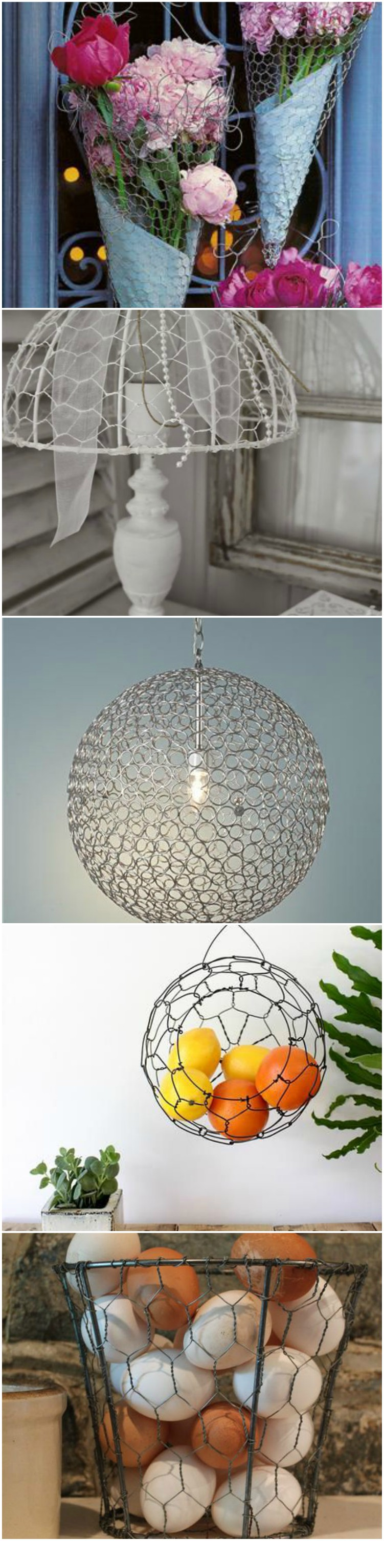 10 brilliant diy chicken wire craft ideas homeadmire for Chicken wire craft ideas