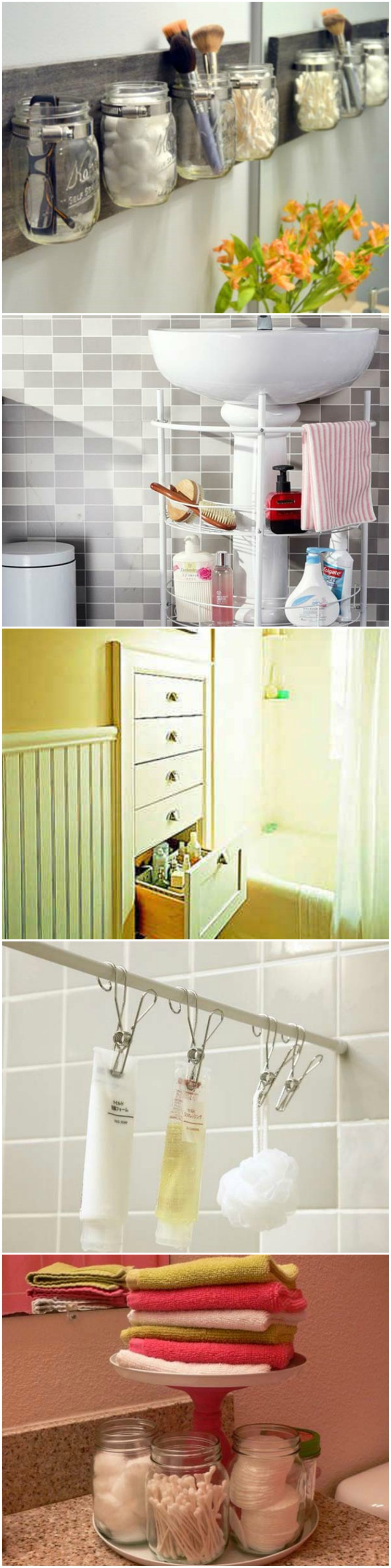 10 amazingly diy small bathroom storage hacks help - Diy Small Bathroom Storage